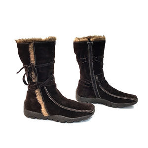 Eric Michael Dark Brown Suede Midcalf Snow Boots